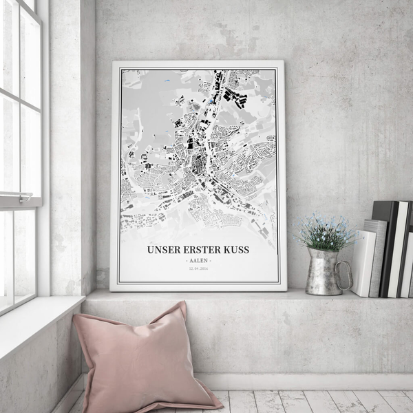 Stadtkarte Aalen im Stil Schwarzplan