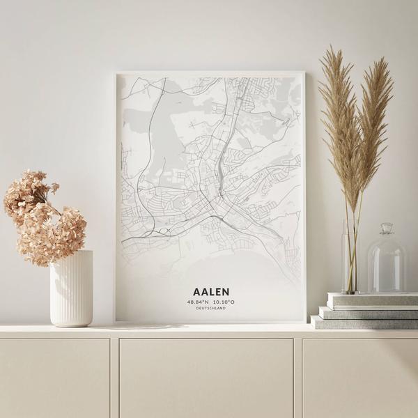 City-Map Aalen im Stil Elegant