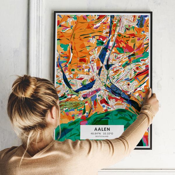 City-Map Aalen im Stil Kandinsky