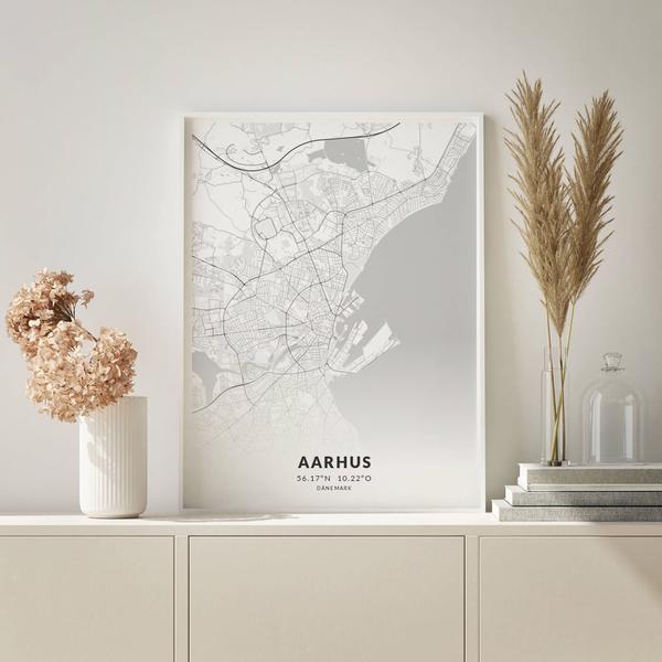 City-Map Aarhus im Stil Elegant