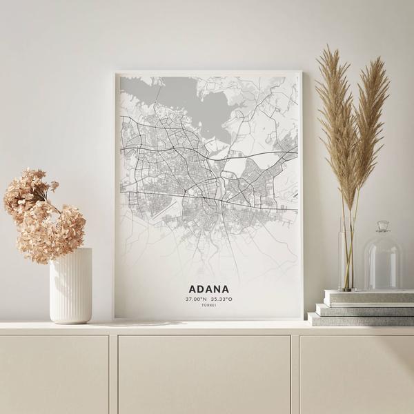 City-Map Adana im Stil Elegant