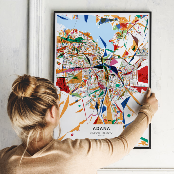City-Map Adana im Stil Kandinsky