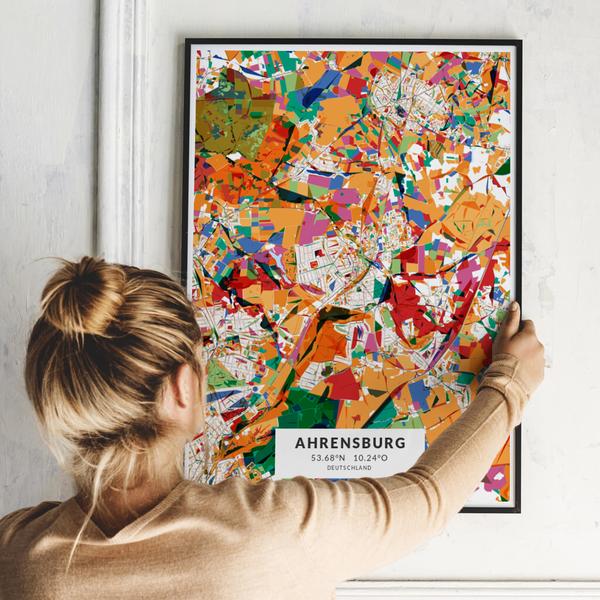 City-Map Ahrensburg im Stil Kandinsky