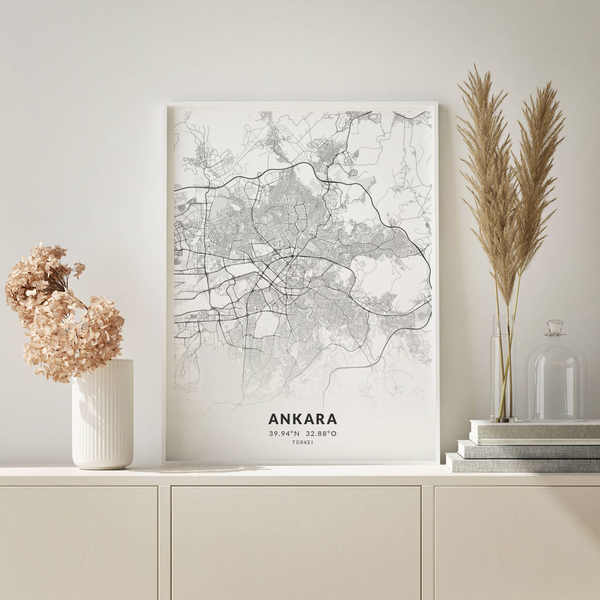 City-Map Ankara im Stil Elegant