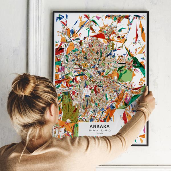 City-Map Ankara im Stil Kandinsky