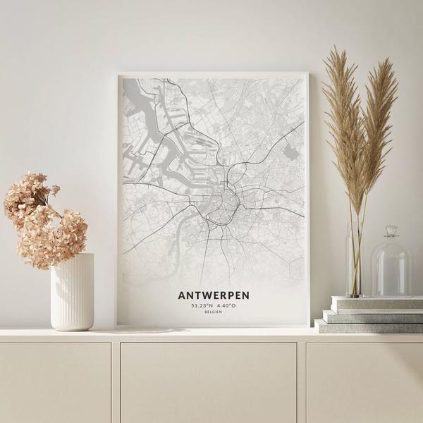 City-Map Antwerpen im Stil Elegant