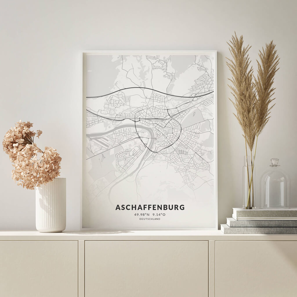 City-Map Aschaffenburg im Stil Elegant
