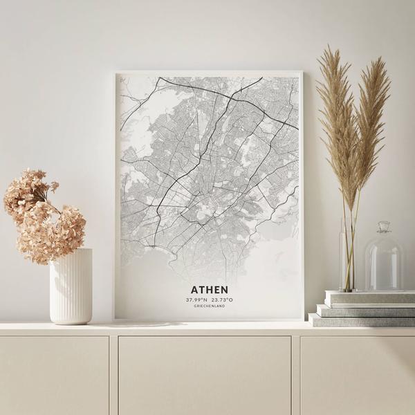 City-Map Athen im Stil Elegant