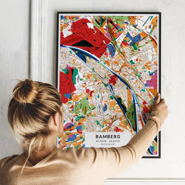 City-Map Bamberg im Stil Kandinsky