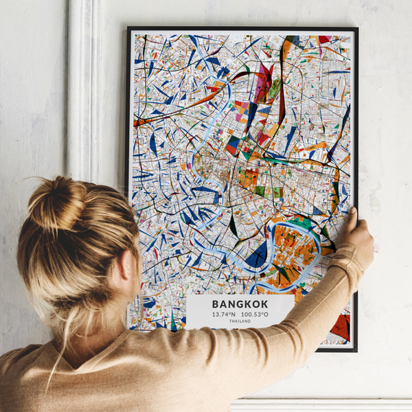 City-Map Bangkok im Stil Kandinsky