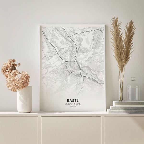 City-Map Basel im Stil Elegant