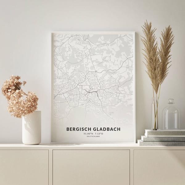 City-Map Bergisch Gladbach im Stil Elegant