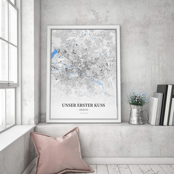Stadtkarte Berlin im Stil Schwarzplan