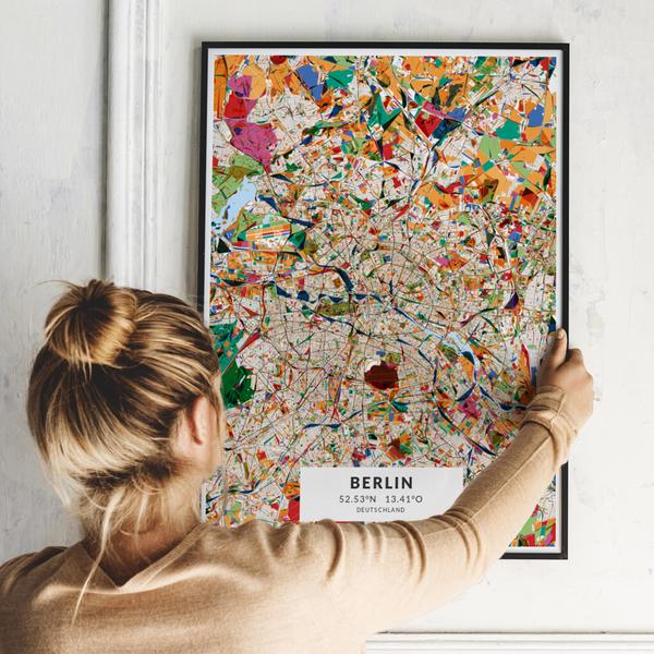City-Map Berlin im Stil Kandinsky