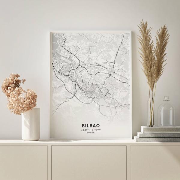 City-Map Bilbao im Stil Elegant