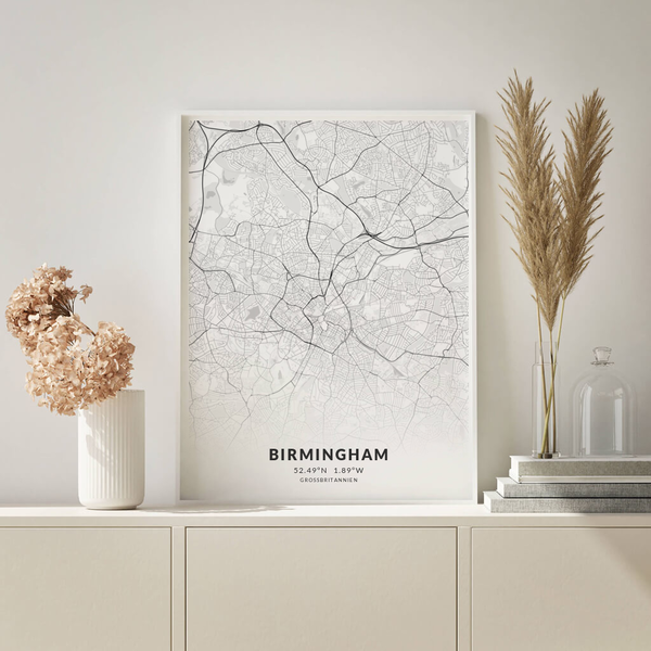 City-Map Birmingham im Stil Elegant
