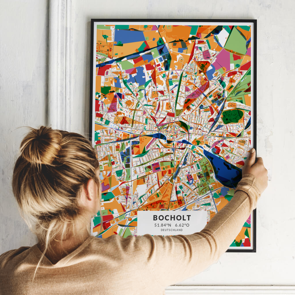 City-Map Bocholt im Stil Kandinsky