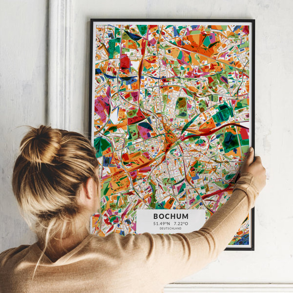 City-Map Bochum im Stil Kandinsky