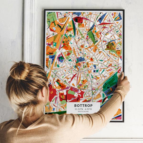 City-Map Bottrop im Stil Kandinsky
