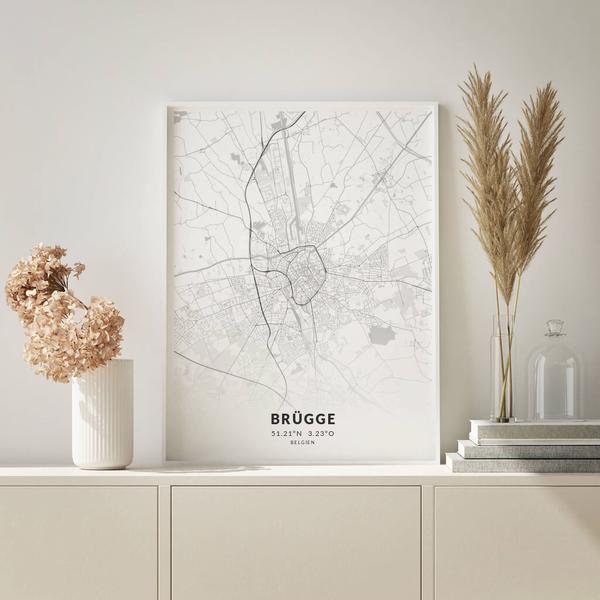 City-Map Brügge im Stil Elegant