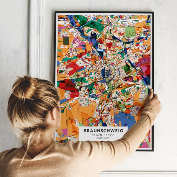 City-Map Braunschweig im Stil Kandinsky