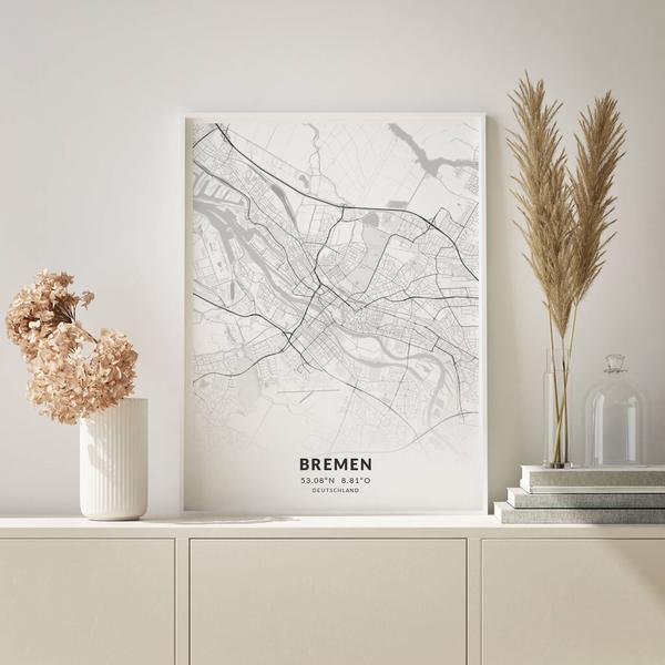 City-Map Bremen im Stil Elegant