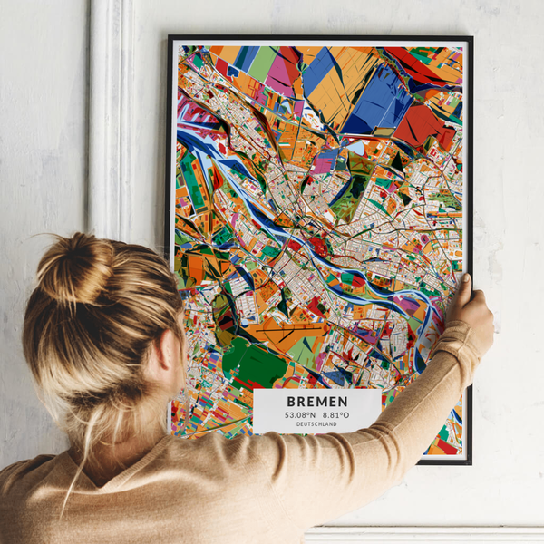 City-Map Bremen im Stil Kandinsky