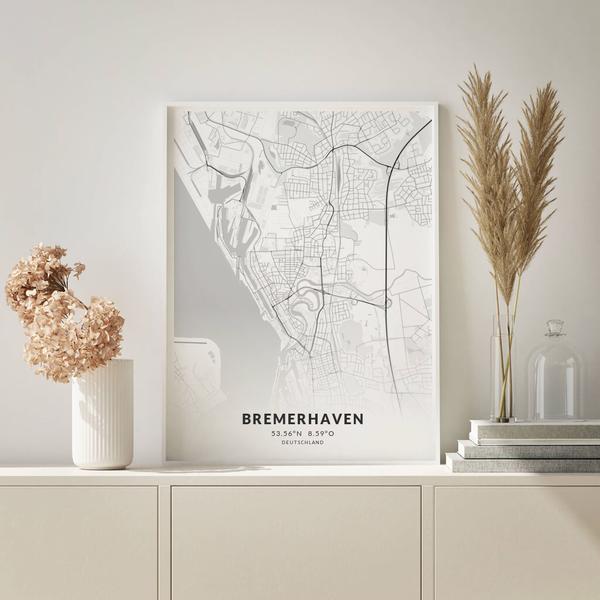 City-Map Bremerhaven im Stil Elegant