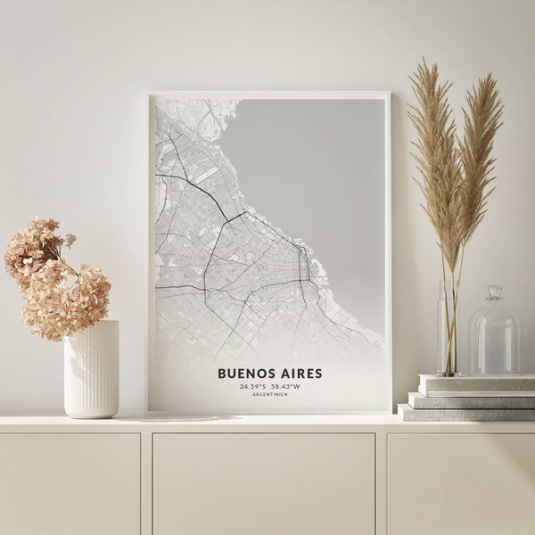 City-Map Buenos Aires im Stil Elegant