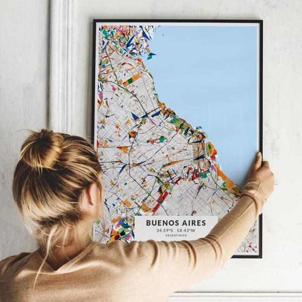 City-Map Buenos Aires im Stil Kandinsky