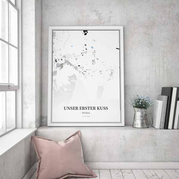 Stadtkarte Bursa im Stil Schwarzplan