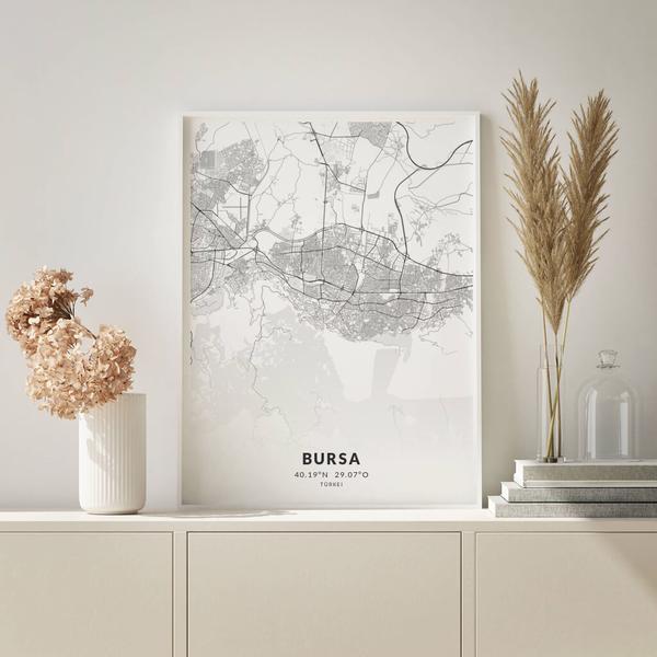 City-Map Bursa im Stil Elegant