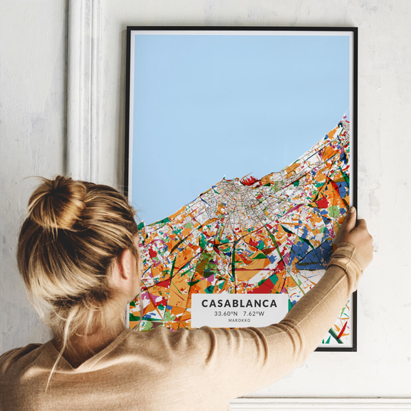 City-Map Casablanca im Stil Kandinsky