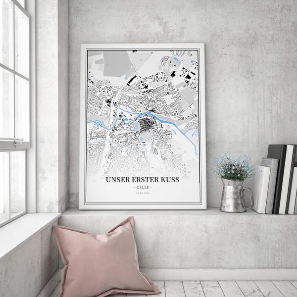 Stadtkarte Celle im Stil Schwarzplan