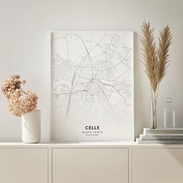 City-Map Celle im Stil Elegant