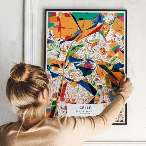 City-Map Celle  im Stil Kandinsky