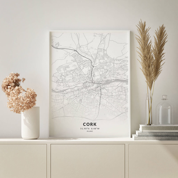 City-Map Cork im Stil Elegant