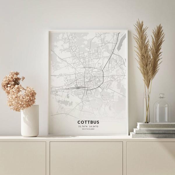 City-Map Cottbus im Stil Elegant