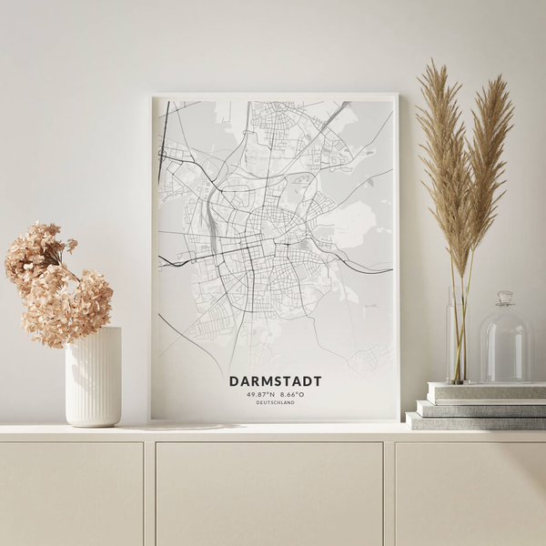 City-Map Darmstadt im Stil Elegant