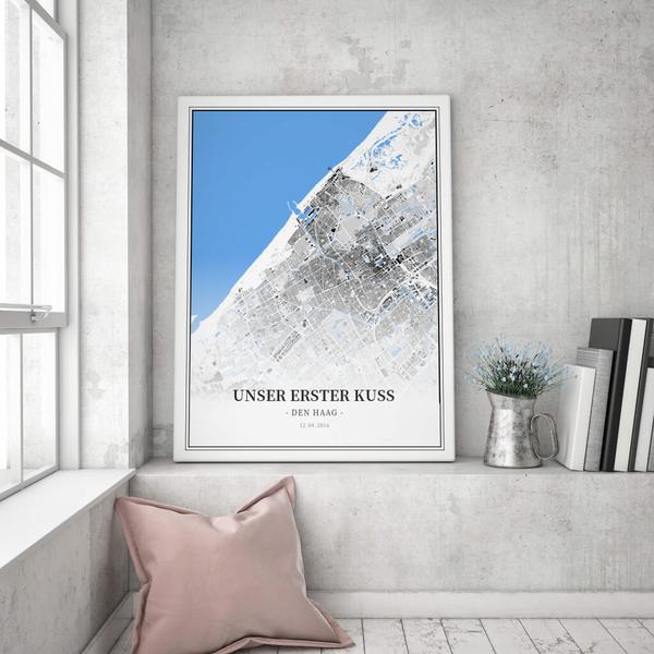 Stadtkarte Den Haag im Stil Schwarzplan