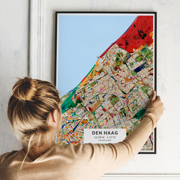 City-Map Den Haag im Stil Kandinsky