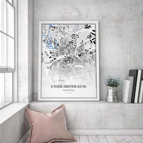 Stadtkarte Dortmund im Stil Schwarzplan