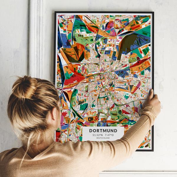 City-Map Dortmund im Stil Kandinsky