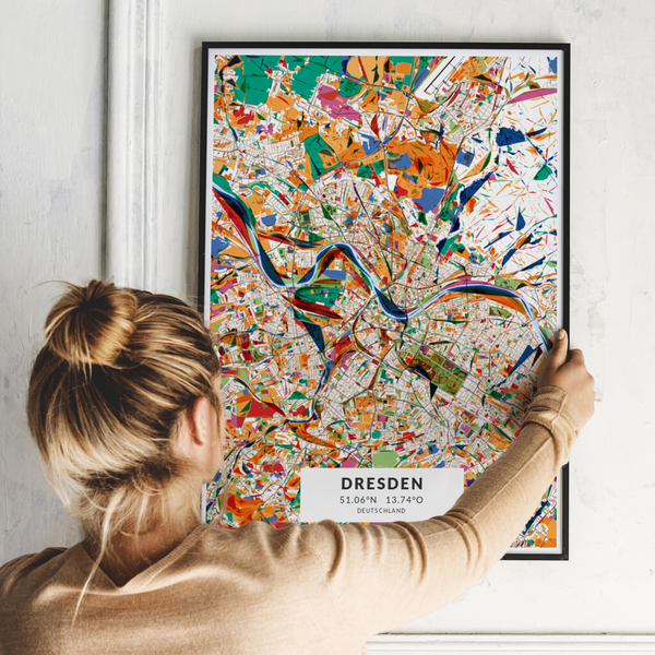 City-Map Dresden im Stil Kandinsky