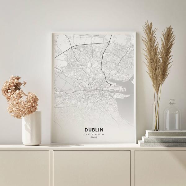 City-Map Dublin im Stil Elegant