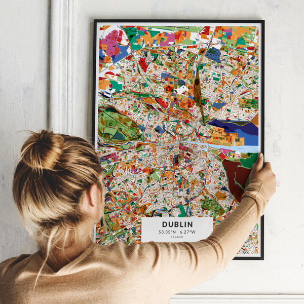 City-Map Dublin im Stil Kandinsky