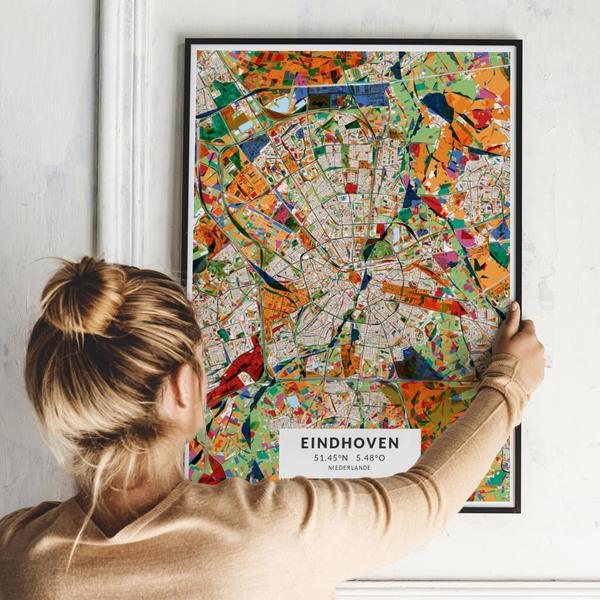 City-Map Eindhoven im Stil Kandinsky