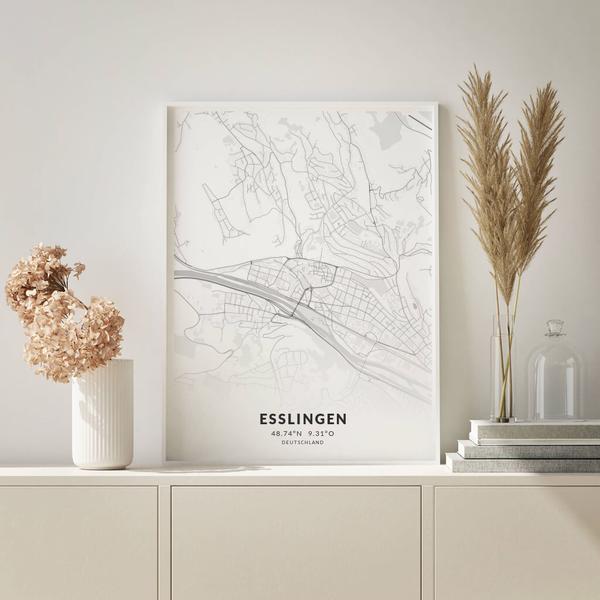 City-Map Esslingen im Stil Elegant