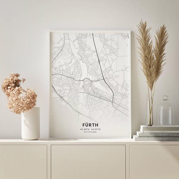 City-Map Fürth im Stil Elegant