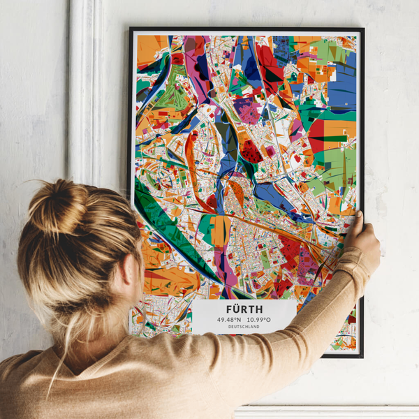 City-Map Fürth im Stil Kandinsky